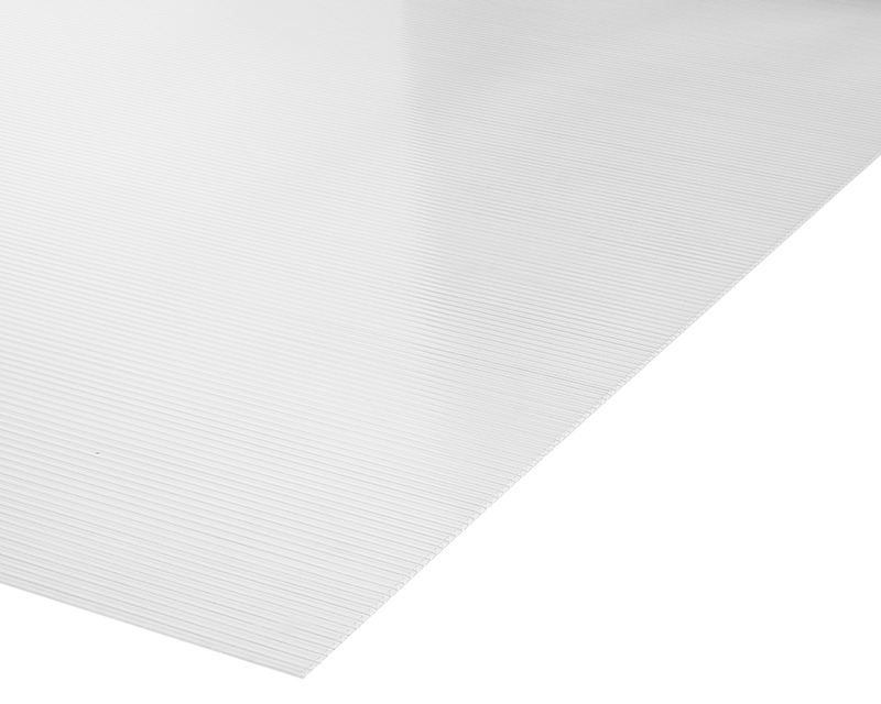 Plancha Policarbonato Alveolar  1.05m x 2.00m x 4mm Transparente