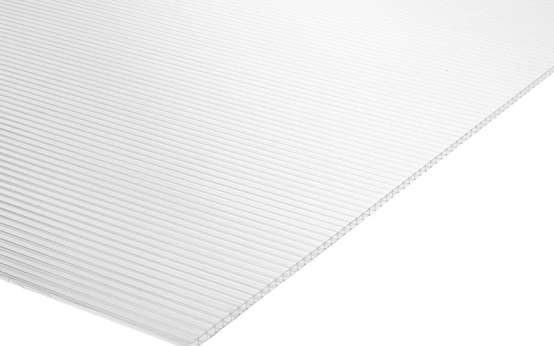 Plancha Policarbonato Alveolar 1.05m x 2.90m x 10mm Transparente