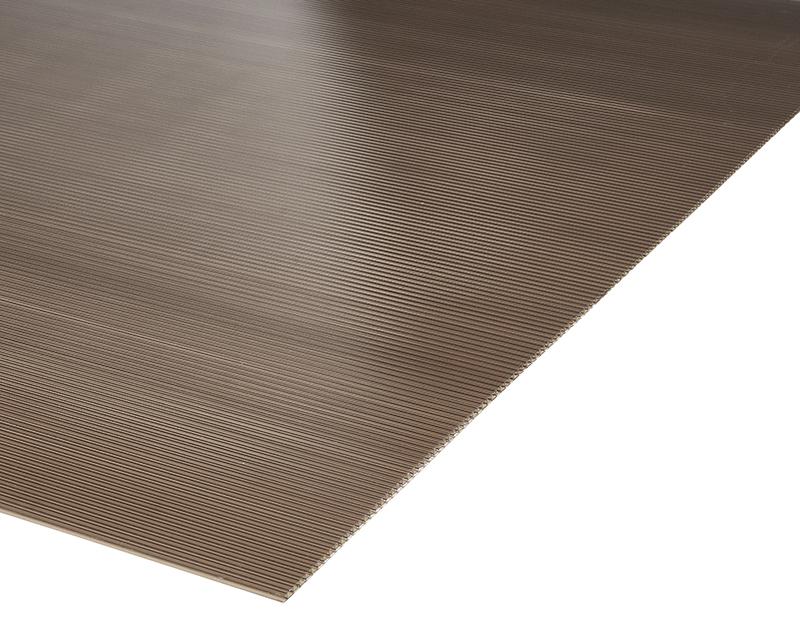 Plancha Policarbonato Alveolar 1.05m x 2.00m x 4mm Bronce
