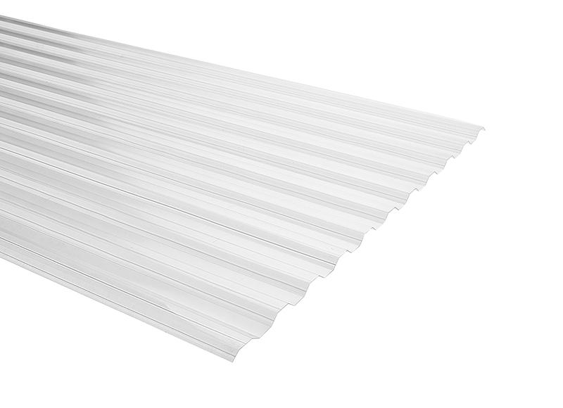 Plancha Policarbonato Corrugado Duraclear 0.81m x 2.00m x 0.5mm  Transparente