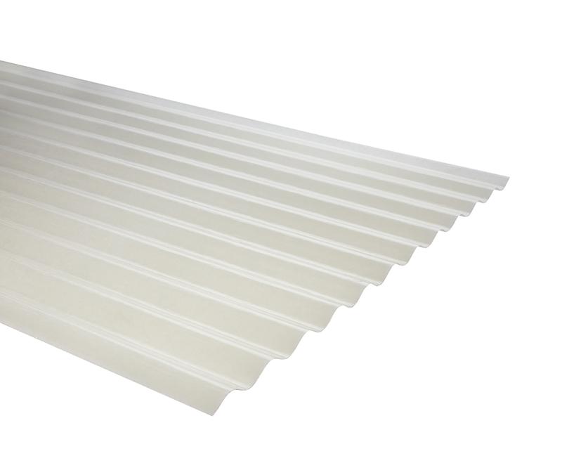 Plancha Fibra de Vidrio (FRP) Onda Zinc 0.85m x 2.00m x 0.70mm Luz Difusora