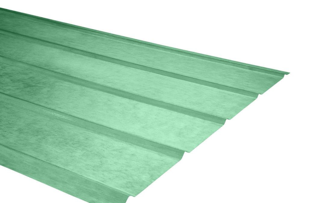 Plancha Fibra de Vidrio (FRP) 5V  0.90m x 3.50m x 0.5mm Verde