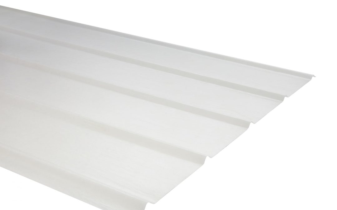 Plancha Fibra de Vidrio (FRP)  5V  0.90m x 3.00m x 0.70mm Luz Difusora