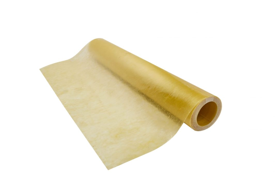 Rollo Plano Fibra de Vidrio (FRP) 1.22m x 20m x 0.5mm Amarillo