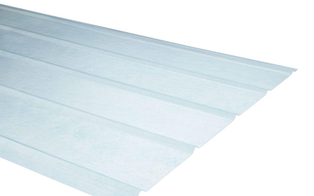 Plancha Fibra de Vidrio (FRP) 5V  0.90m x 3.00m x 0.5mm Natural