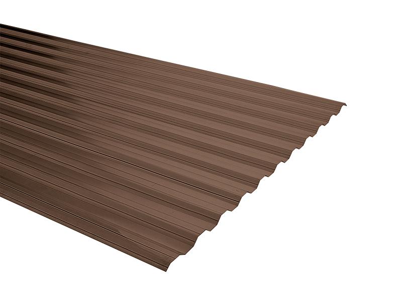 Plancha Policarbonato Corrugado Duraclear 0.81m x 2.00m x 0.5mm  Bronce
