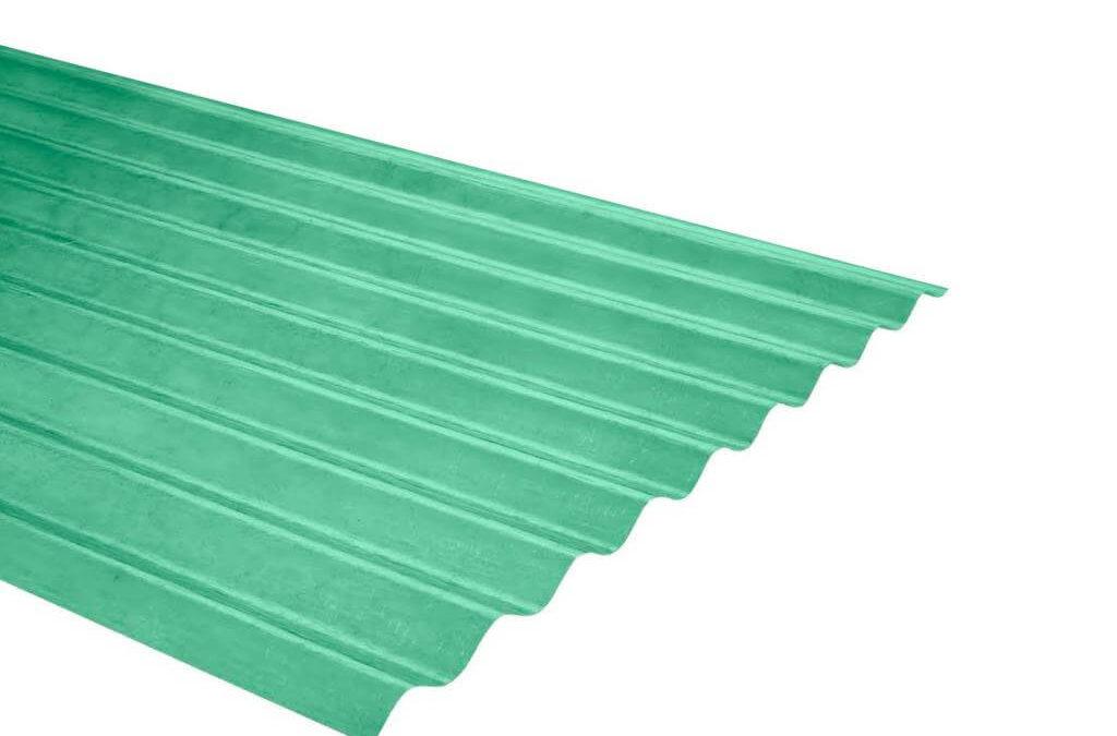 Plancha Fibra de Vidrio (FRP) Onda Zinc P9 0.91m x 1.22m x 0.5mm Verde