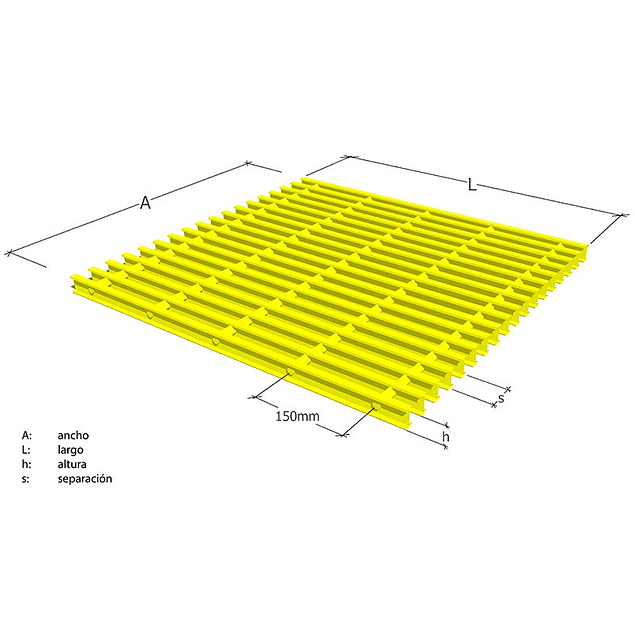 Parrilla Pultruida 19x19x30