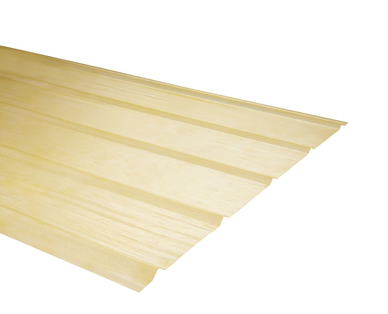 Plancha Fibra de Vidrio (FRP) 5V  0.90m x 3.00m x 0.5mm Amarillo