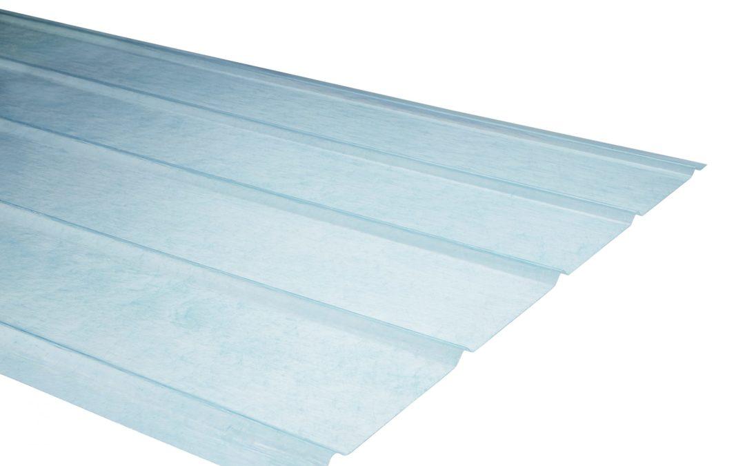 Plancha Fibra de Vidrio (FRP) 5V  0.90m x 3.00m x 0.70mm Aqua