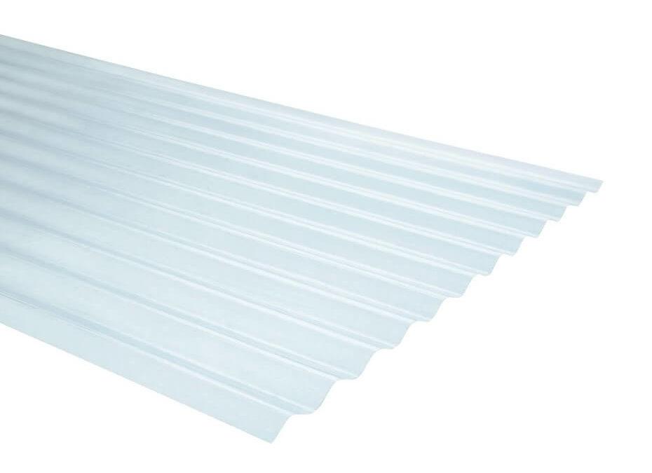 Plancha Fibra de Vidrio (FRP) Onda Zinc 0.85m x 2.00m x 0.5mm Natural