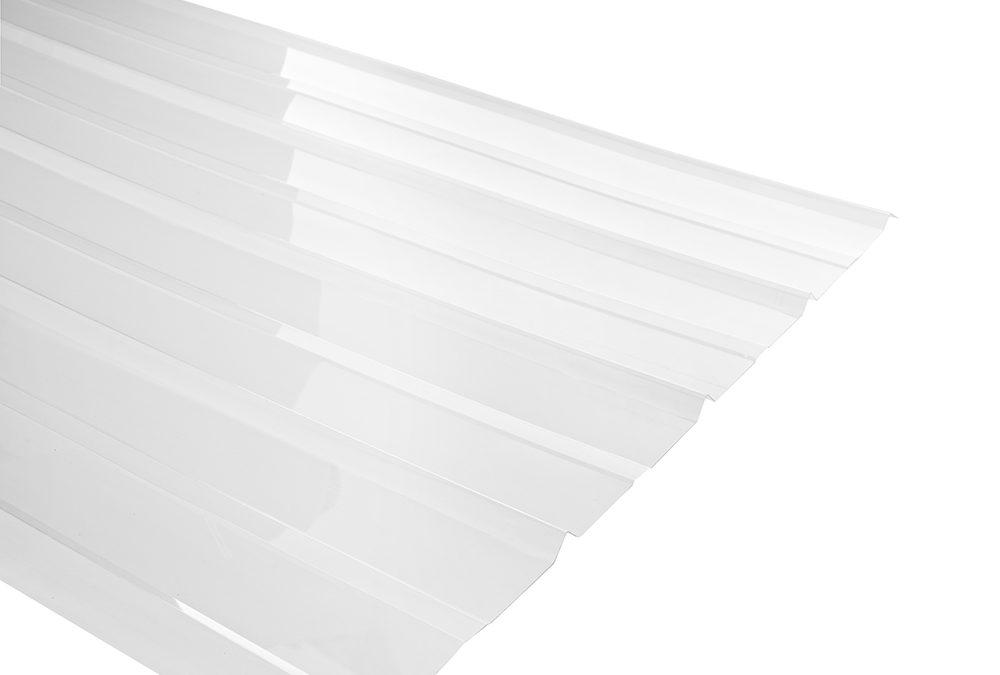 Plancha Policarbonato Corrugado 5V 0.85m x 2.00M x 0.7mm Transparente